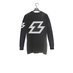 Black / Back - Zeronine Reflective Z Long Sleeve Soft Tee: 100% Combed Ringspun Cotton