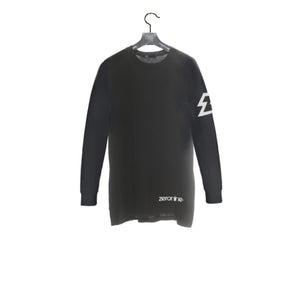 Black / Front - Zeronine Reflective Z Long Sleeve Soft Tee: 100% Combed Ringspun Cotton