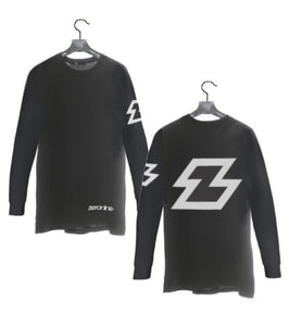Black - Zeronine Reflective Z Long Sleeve Soft Tee: 100% Combed Ringspun Cotton