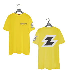 Yellow - Zeronine Reflective Big Z Short Sleeve Soft Tee: 100% Combed Ringspun Cotton