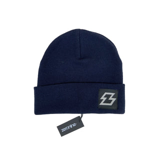 "Navy Zeronine Z Beanie: 10"" Hat, Soft Cashmere feel"