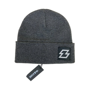 "Grey Zeronine Z Beanie: 10"" Hat, Soft Cashmere feel"