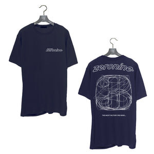 Navy - Zeronine Numbers Short Sleeve Soft Tee: 100% Combed Ringspun Cotton
