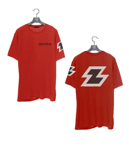 Red - Zeronine Reflective Big Z Short Sleeve Soft Tee: 100% Combed Ringspun Cotton