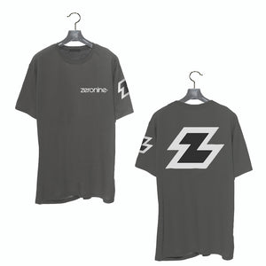 Cool Grey - Zeronine Reflective Big Z Short Sleeve Soft Tee: 100% Combed Ringspun Cotton