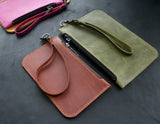 Leather Zipper Cosmetic Bag - Anger Refuge