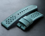 Watch strap Teal perforated - Anger Refuge