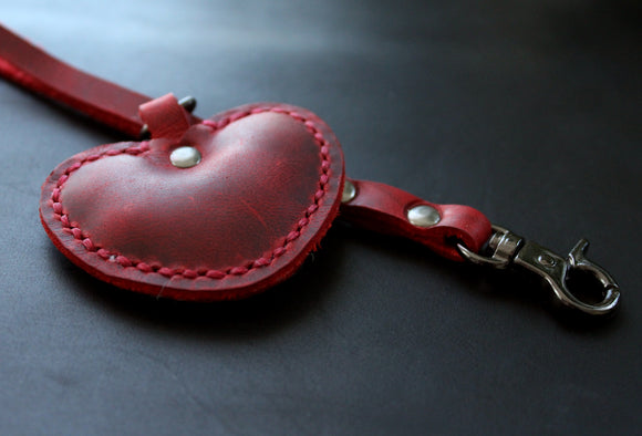 Red Heart wristlet keychain - Anger Refuge