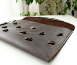Leather clutch bags coffee Brown - Anger Refuge
