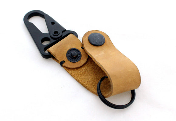 Tactical leather keychain - Anger Refuge