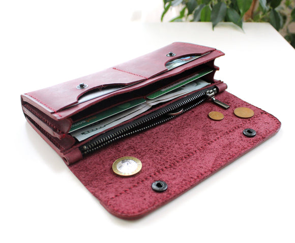 Large women's wallet Purple - Anger Refuge