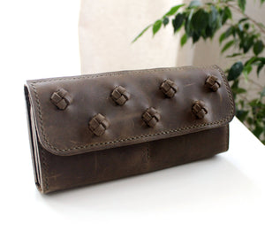Long women wallet clutch purse - Anger Refuge