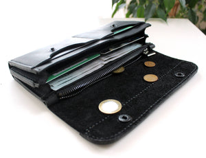 Large women's wallet Black - Anger Refuge