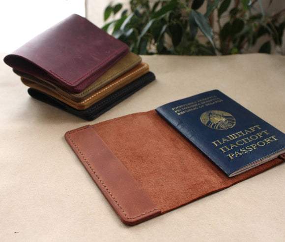 Handmade passport holder - Anger Refuge