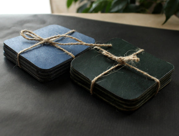 Leather coasters set - Anger Refuge