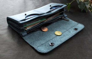 Large women's wallet Blue - Anger Refuge