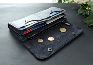 Large women's wallet Dark Blue - Anger Refuge