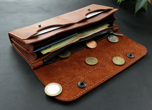 Large women's wallet Brick Brown - Anger Refuge