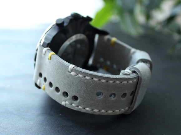 Watch strap Gray perforated - Anger Refuge