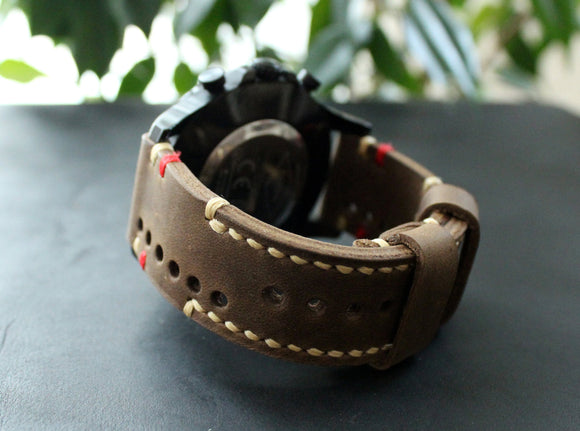 Watch strap Olive perforated - Anger Refuge