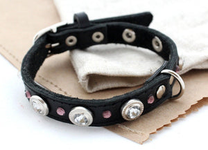Rhinestones dog collars - Anger Refuge