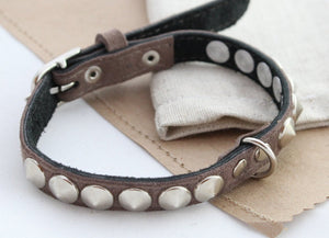 Dog collars Suede spikes - Anger Refuge