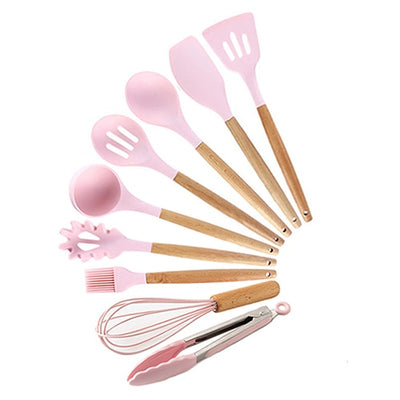Silicone Cooking Utensils Set Non-Stick