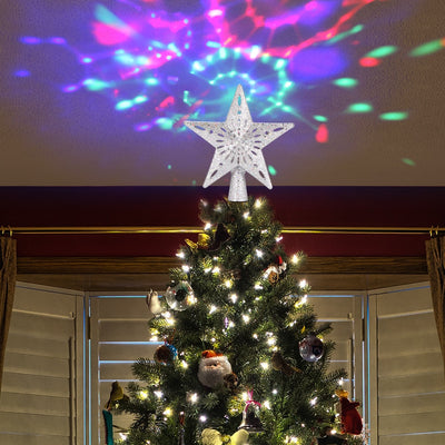 LED Lighted Christmas 2-in-1 Tree Star Decoration Projector