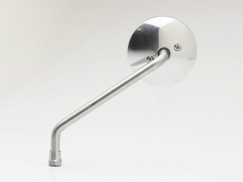 "Mirror, 3"" Round, Aluminium/Stainless Steel, Long Stem"