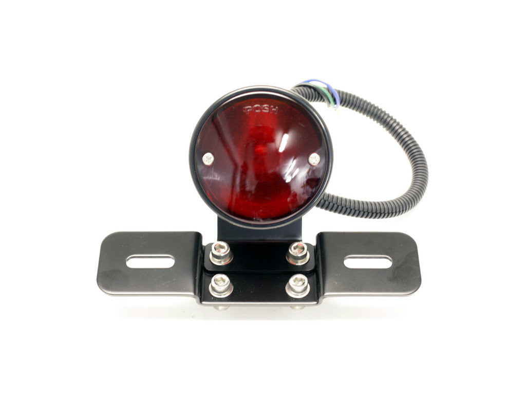 Tail Light with Number Plate Bracket, POSH, Black