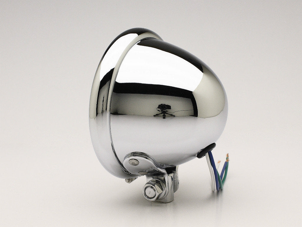 "Headlight, 4.5"" Bottom-mount, Chrome, DOT"