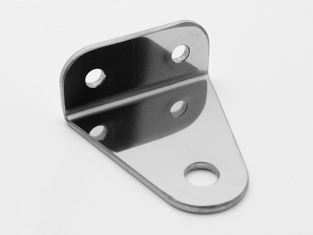 Headlight Bracket, Bottom Mount, Stainless, SR400/500, W400/650/800