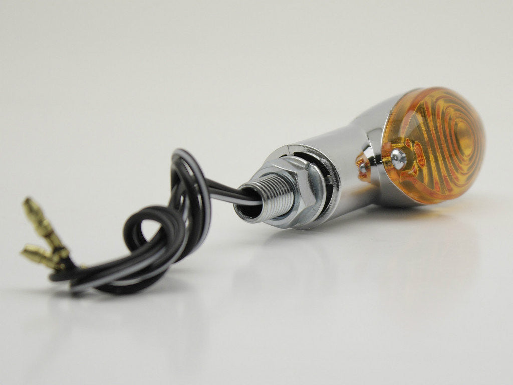 Indicators, Cat-eye, Chrome with Amber Lens