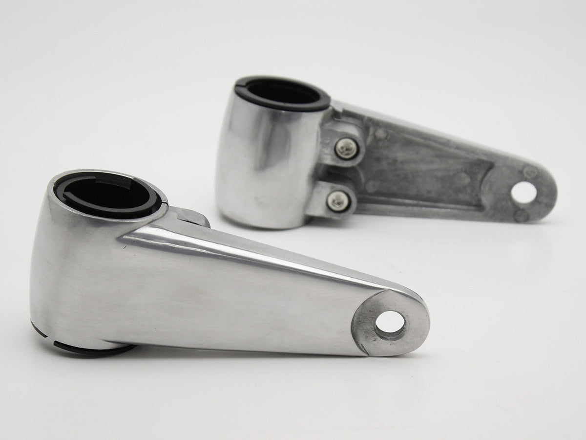 Headlight Brackets, Cafe Racer-style, Cast, Polished