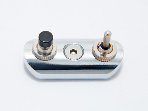Switch Block, Low Profile, Chrome