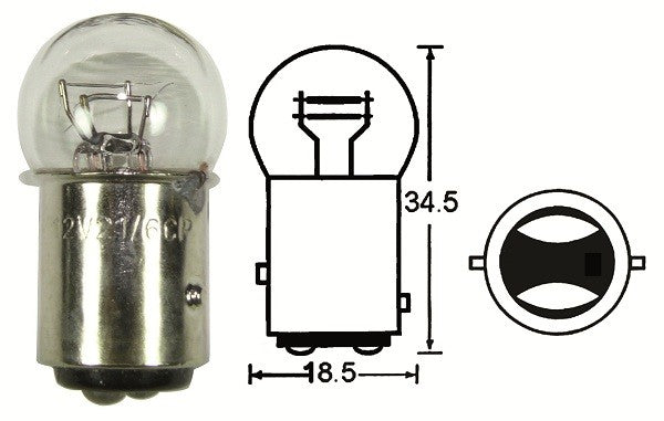 Tail Light Bulb, BAY15D Small Head