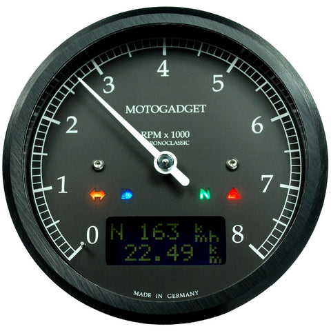 Motogadget Chronoclassic, Black Bezel, DarkEdition