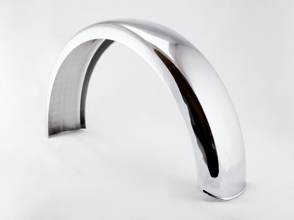 Fender, Rear, Stainless Steel, 6""