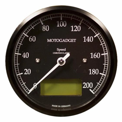 Motogadget Chronoclassic Speedo, Black Bezel, Green LCD
