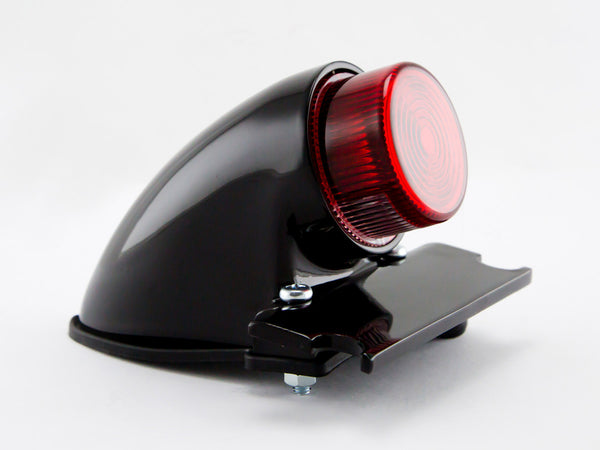Tail Light, Sparto, Flat Lens, Black