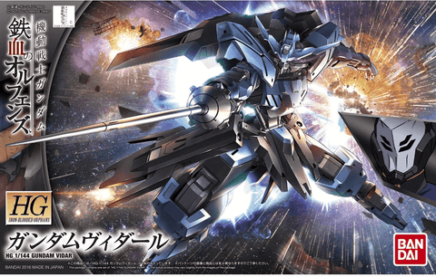 Bandai Model # BAN5055448, Iron Blooded Orphans #27 HG Gundam Vidar 1/144 scale cover art