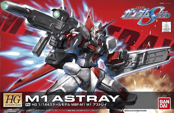"Bandai R16 MBF-M1 Astray ""Remaster"" Mobile Suit Gundam Seed 1/144 scale cover art"