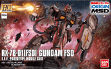 HG RX-78-01(FSD) Gundam FSD MSD 1/144, Model # BAN5059154 Cover Art