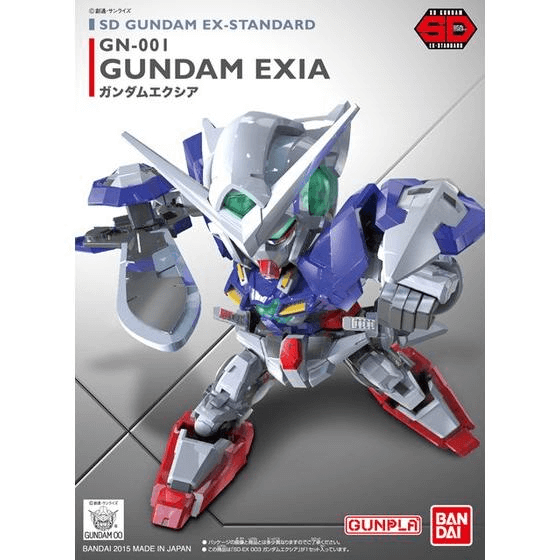 SD EX STANDARD #03 GUNDAM EXIA MODEL # BAN5057599 COVER ART