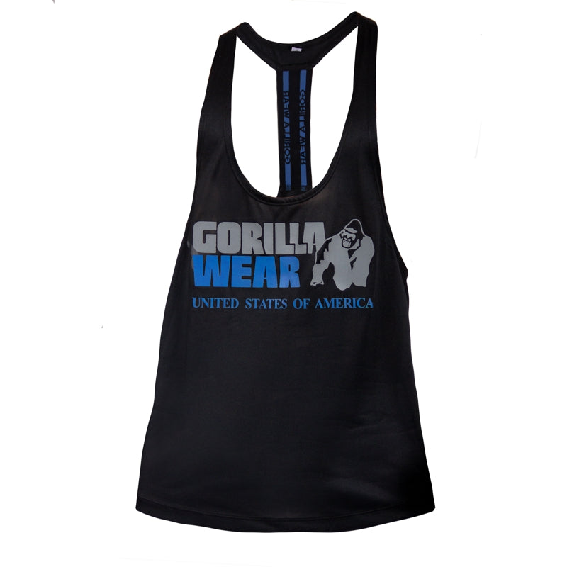 Nashville Tank Top -Black/Light Blue