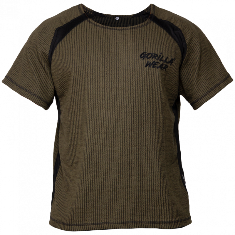 Augustine Old School Workout Top - Army Green