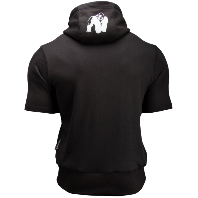 Boston Short Sleeve Hoodie -Black