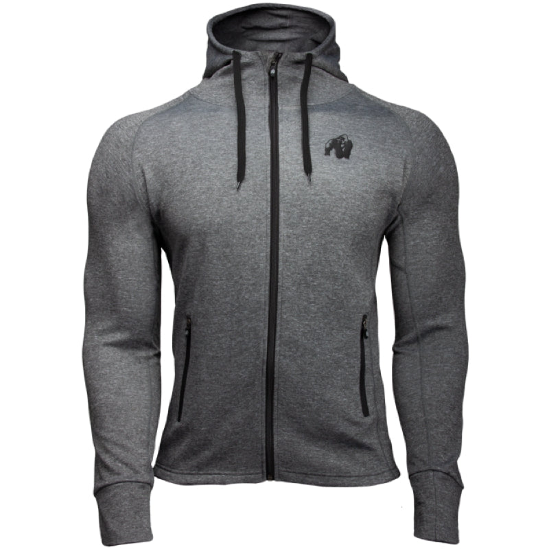 Bridgeport Zipped Hoodie - Dark Gray