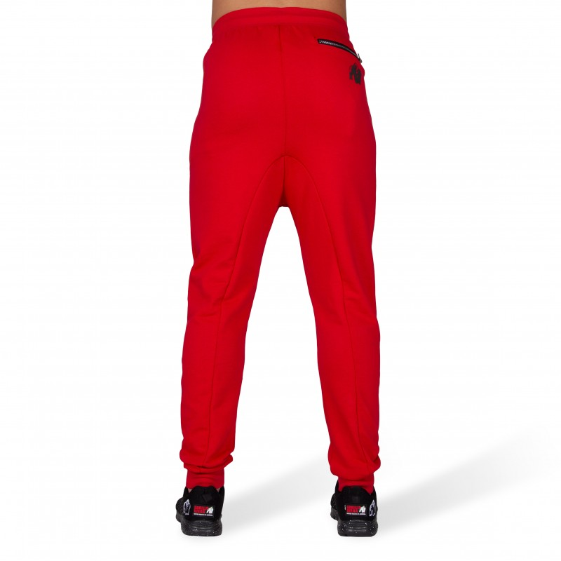 Alabama Drop Crotch Joggers - Red