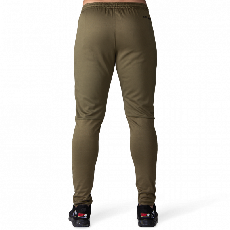 BALLINGER TRACK PANTS - ARMY GREEN/BLACK